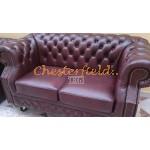 Chesterfield Windsor 2-es kanapé Antikbordó A7
