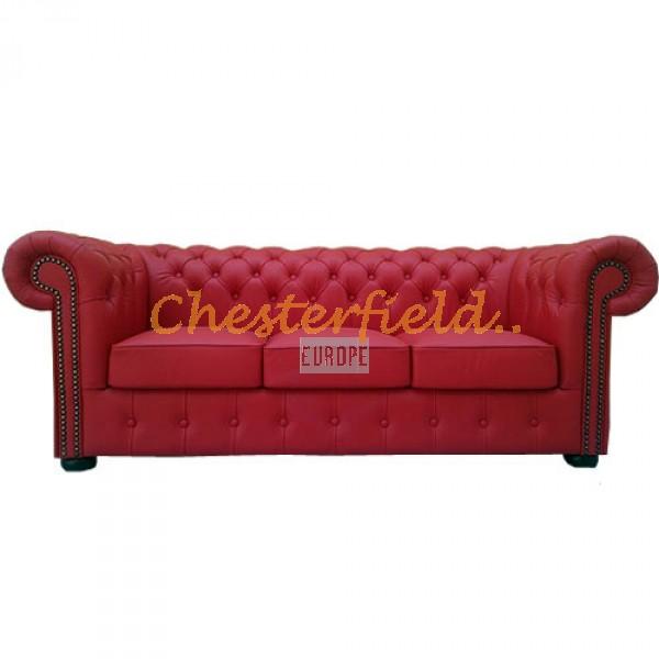 Chesterfield Classic 3-as kanapé piros