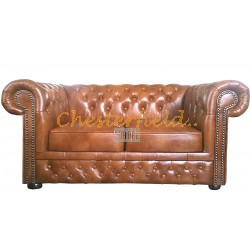 Chesterfield Lord 2-es kanapé Antik óarany S12