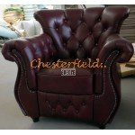 Chesterfield Monk fotel Antikbordó A7