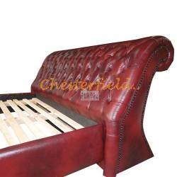 Chesterfield Oxford ágy Antikbordó A7