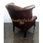 Chesterfield Queen fülesfotel Antik középbarna (A5 Mitte)