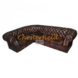 Chesterfield Windsor 2+3 sarokkanapé Antikbarna A5