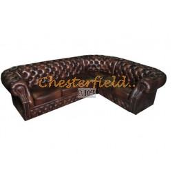 Chesterfield Windsor 3+2 sarokkanapé Antikbarna A5