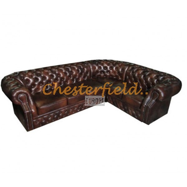 Chesterfield Windsor 3+2 sarokkanapé Antikbarna A5
