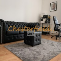 Chesterfield classic fekete kanapé