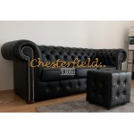 Chesterfield Classic 3-as kanapé Fekete K70