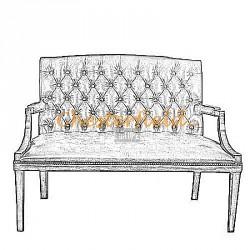 Chesterfield King 2-es kanapé