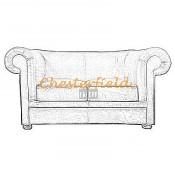 Chesterfield London 2-es kanapé (6)