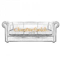 Chesterfield 3-as kanapé, szófa