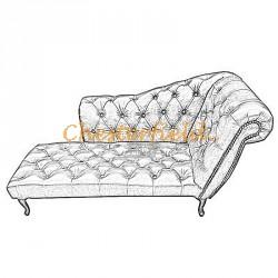 Chesterfield Recamiere Pompadour