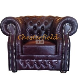 Chesterfield XL Windsor fotel Antikbordó A7
