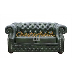 Chesterfield XL Windsor 2-es kanapé Antikzöld A8
