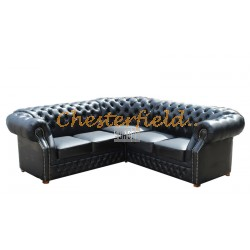 Chesterfield Windsor 2+2 sarokkanapé Fekete K70