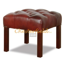 Chesterfield Taboret Antikbordó A7