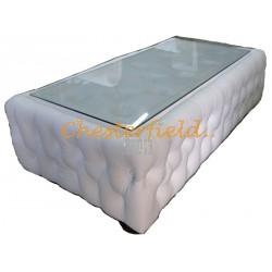 Chesterfield Dohányzóasztal Fehér K1