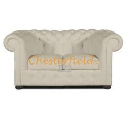 Chesterfield Classic 2-es kanapé Törtfehér K2