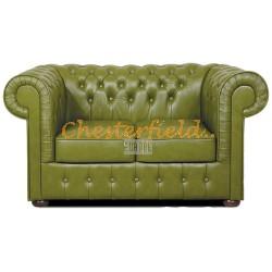 Chesterfield Mark 2-es kanapé Olivazöld S14