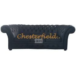 Chesterfield Windchester 3-as kanapé Fekete K70