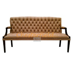Chesterfield King 3-as kanapé Cappucchino