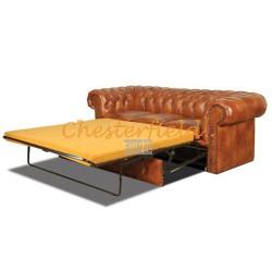 Chesterfield Classic 3-as ágyazható kanapé Antikwhisky C12