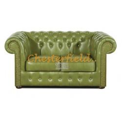 Chesterfield Classic 2-es kanapé Olivazöld S14