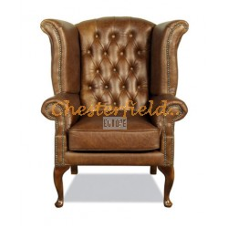 Chesterfield Queen fülesfotel Antik óarany S12