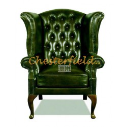 Chesterfield Queen fülesfotel Antikzöld A8