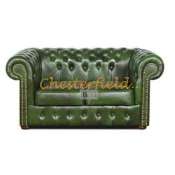 Chesterfield XL Classic 2-es kanapé Antikzöld A8