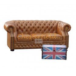 Chesterfield Windsor 3-as kanapé Antikwhisky C12