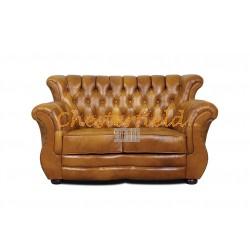 Chesterfield Monk 2-es kanapé Antik óarany S12