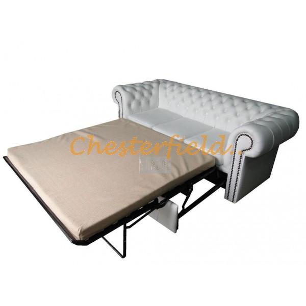 Chesterfield Classic 3-as ágyazható kanapé Fehér K1