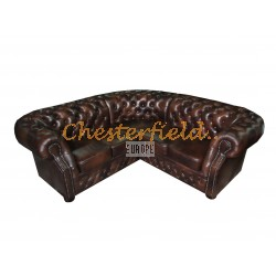 Chesterfield Windsor 2+2 sarokkanapé Antikbarna A5