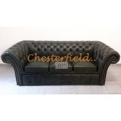 Chesterfield Windchester3-as ágyazható kanapé Antikzöld A8