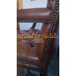 Chesterfield King karfásszék Antik óarany S12