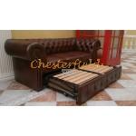 Chesterfield Classic 3-as ágyazható kanapé Antikkonyak A4