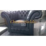 Chesterfield Windchester fotel Fekete K70