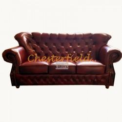 Chesterfield MonkB 3-as kanapé Antikbordó A7