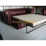 Chesterfield Classic 3-as ágyazható kanapé Antikbordó A7