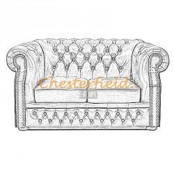 Chesterfield XL Windsor 2-es kanapé
